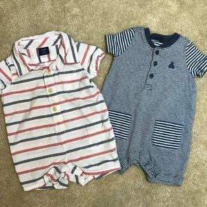 Baby Gap Boys Rompers 0-3 Months